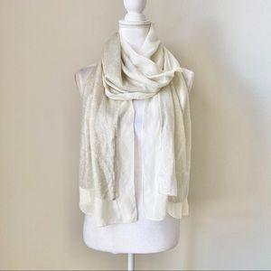 Creme/white with sparkles fashion scarf
